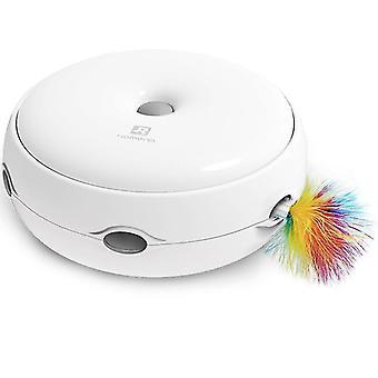 Elektryczna zabawka dla kota inteligentna zabawna zabawka dla kota pączek automatyczny gramofon (biały)