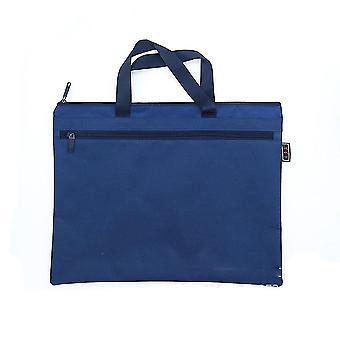 Dokument Tasche A4 Reißverschluss Tasche Canvas Handtasche Herren Aktentasche einfache Notebook Tasche Falten Gusset