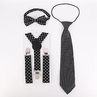 Polka Dot Muster Elastisches Band Fliege und Krawatte Kit