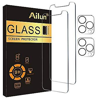 2pack Screen Protector Compatible For Iphone 13 Pro+ 2 Pack Camera Lens Protector,tempered Glass Film,[9h Hardness] - Hd