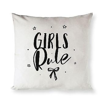 Pillowcases shams girls rule cotton canvas pillow cover sm148729
