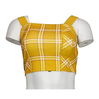 WVVY By Fitty Britttty One Power Cross Back Sports Bra Yellow 714049