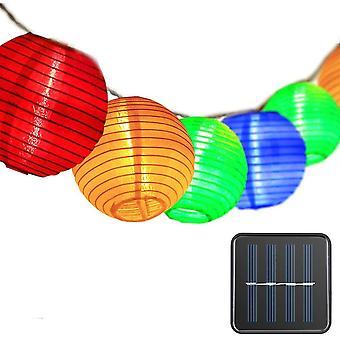 Outdoor Solar Girlanden Laternen, Fairy Lights 30 Led wasserdichte Outdoor-Solarlampen für GartenLampen chinesische Laterne