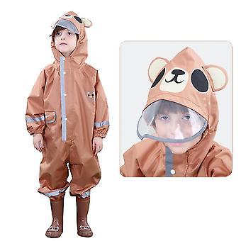 Дети водонепроницаемый дождь костюм relective Мультфильм Coverall Дождь пальто