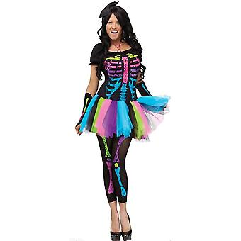 Funky Punk Bones Damen Kostüm Erwachsene Halloween