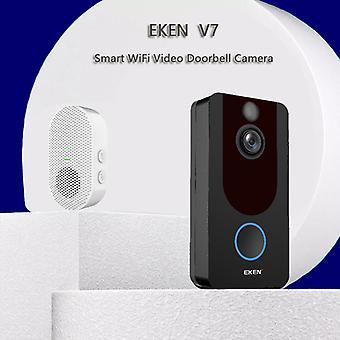 スマートワイヤレス無線WiFiビデオドアベルHDセキュリティカメラ、ピルモーション検出ナイトビジョン双方向トークとリアルタイムビデオ2.4ghz WiFi