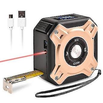 Ruban à mesurer électronique infrarouge, télémètre électronique portable 2-en-1 Mesure automatique 0065
