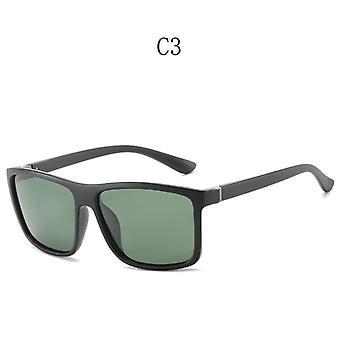 Högkvalitativa Fyrkantiga Vintage Solglasögon Polariserade Solglasögon Retro