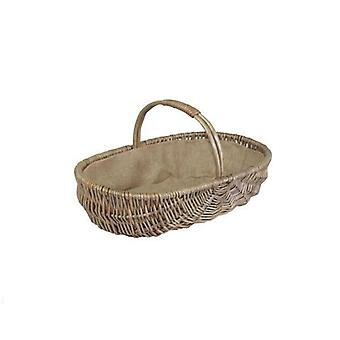 Large Shallow Antique Wash Lined Garden Trugs