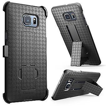 i-Blason Galaxy S6 Edge Plus Transformer Series Holster Case - Black