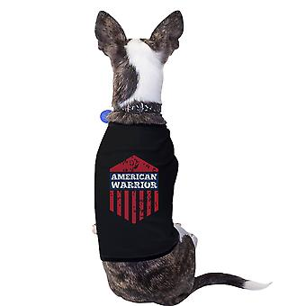 American Warrior Black Pets Tshirt For Small Dogs Cute Gift Ideas