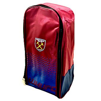 West Ham United FC Official Fade Football Crest Sports Boot Bag