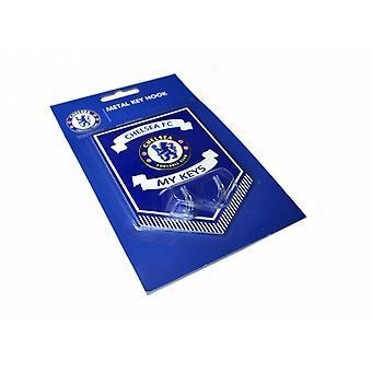 Chelsea FC officiella fotboll metallnyckeln hängande tecken