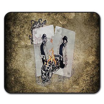 Dice Poker Card  Non-Slip Mouse Mat Pad 24cm x 20cm | Wellcoda