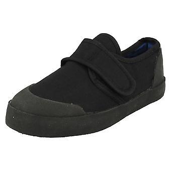 Unisex Childrens Black Velcro Plimsolls 322-7303