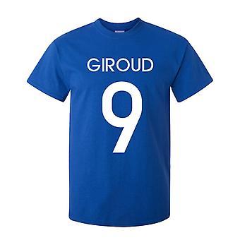 אוליביה ז'אאוד צרפת הגיבור T-חולצת (כחול)