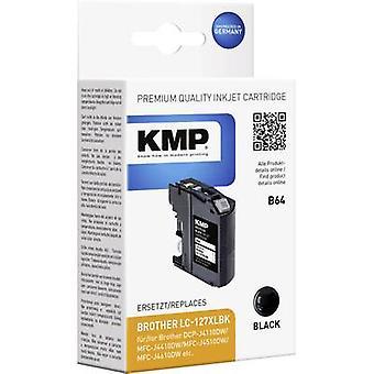 KMP Tinte ersetzt Brother LC-127XLBK Compatible Black B64 1527,4001