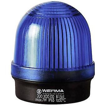 Werma Signaltechnik Light 200.500.00 Blue Non-stop light signal 12 V AC, 12 V DC, 24 V AC, 24 V DC, 48 V AC, 48 V DC, 110 V AC, 230 V AC