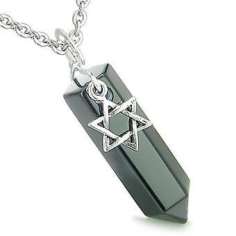 Amulet koning van Solomon ster van David Crystal punt Magic charme Onyx spirituele hanger ketting