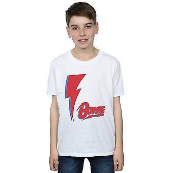 David Bowie Boys Red Bolt T-Shirt