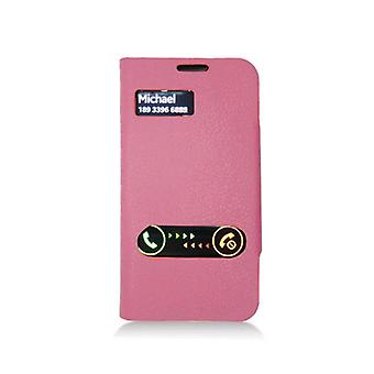 Deluxe Flip Leather Case for Samsung Galaxy S4 - Hot Pink