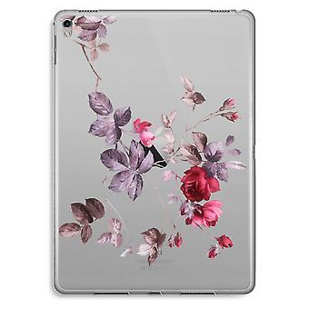 iPad Pro 9,7 tommers gjennomsiktig sak (myk) - pene blomster