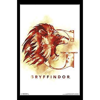 Harry Potter - Gryffindor illustrerade affisch Skriv