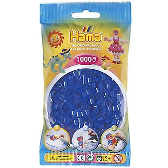 Hama Beads 1000 Bead Pack Neon Blue