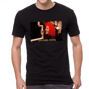 The Fifth Element Chi-cken Good Men's Black T-shirt