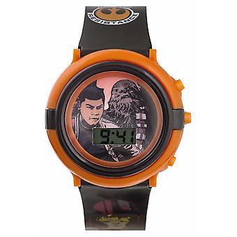 スター ・ ウォーズのフィンとチューバッカ ライトアップ デジタル SWM3006 時計