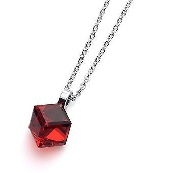 Oliver Weber Pendant Cube Rhodium Crystal