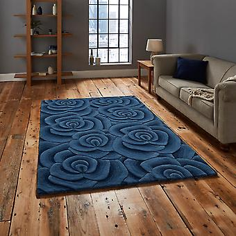 San Valentín alfombras Vl10 hecho a mano indio lana en azul