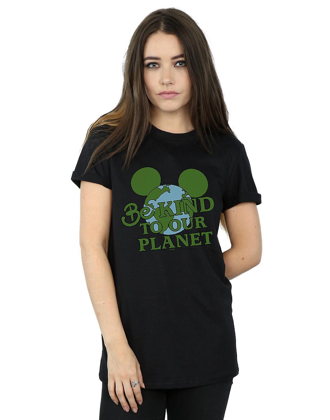 Disney Women's Mickey Mouse Be Kind Boyfriend Fit T-Shirt