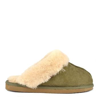 Shepherd of Sweden Jessica Olive Sheepskin Slipper