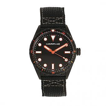 MORPHIC M69 serie Canvas-Band Watch - zwart