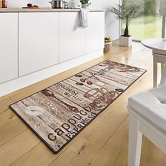 Corredor de diseño ante cocina delicioso café Braun 67 x 180 cm | 102371