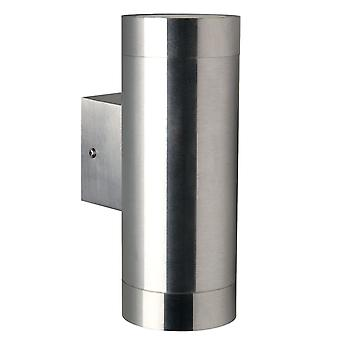 Tin Maxi  -  Stainless Steel Double Cylinder Outdoor Up / Down Light  - Nordlux 21519934