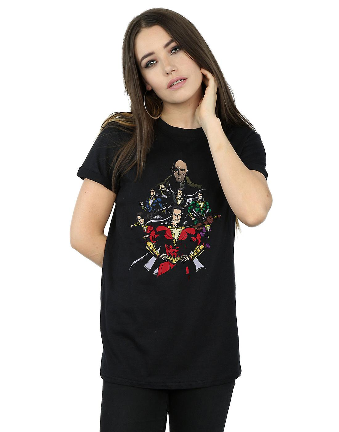 DC Comics Women's Shazam Team Up Boyfriend Fit T-Shirt