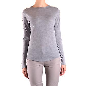 Balmain Ezbc005022 Femmes-apos;s Grey Wool Sweater