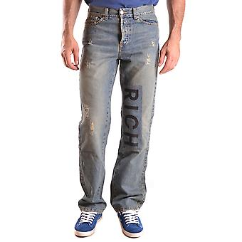 John Richmond Ezbc082044 Men's Blue Cotton Jeans