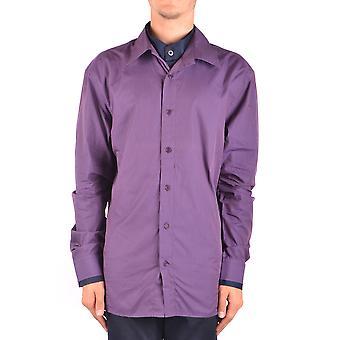 Bikkembergs Ezbc101017 Hombres's Camisa de Algodón Púrpura