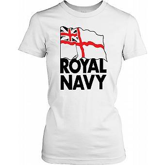 Bandeira da marinha real - poder Naval britânico feminina T-Shirt