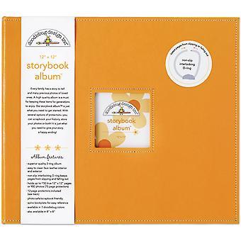 Doodlebug Design Mandarin 12x12 Inch Storybook Album