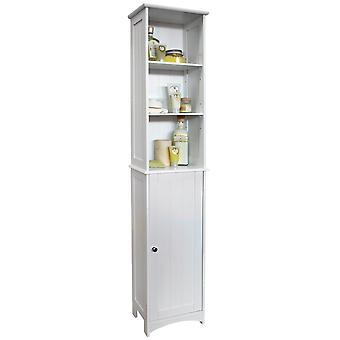 Casa americana - baño alto almacenamiento armario con estantes de exhibición - blanco