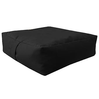 Black Water Resistant Large Bean Floor Garden Slab Cushion Stool Pouffe