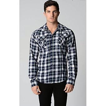 Deacon peper met lange mouwen check shirt