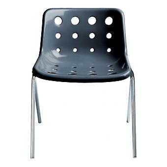 Loft Robin Day 4 Leg Charcoal Grey Plastic Polo Chair