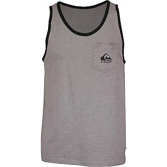 Quiksilver mens Omni logo Tank Top-medium grijs Heather