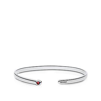 Cincinnati Reds Engraved Sterling Silver Ruby Cuff Bracelet