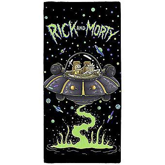 Toalla Rick y Morty UFO